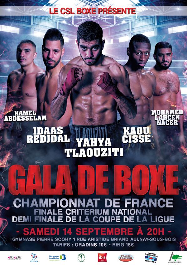 Affiche gala de boxe